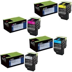 Lexmark  toner cartridge set, 80C10C0, 80C10K0, 80C10M0, 80C
