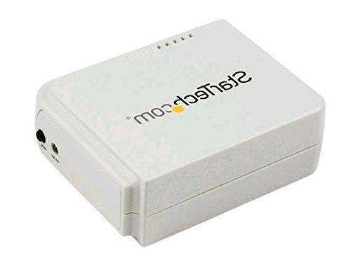 StarTech.com 1 Port USB Wireless N Network Print Server with