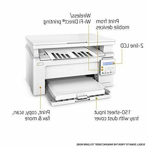 New! HP M130nw All-in-One Wireless Laser Printer