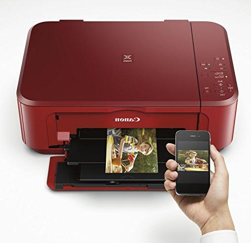 Canon PIXMA All-In-One Color Printer with Printing, Red