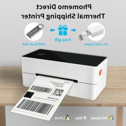 Phomemo Label Printer 4''×6'' Direct Thermal Desktop Shippi