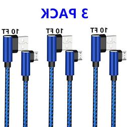 Micro USB 2.0 Android Cable, DECVO Right Angled Fast Chargin