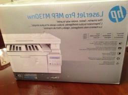 New! HP LaserJet Pro M130nw All-in-One Wireless Laser Printe