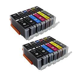 Big Dew 12 Pack PGI-250XL CLI-251XL High Yeild Ink Cartridge