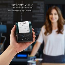 US SHIP Bluetooth Receipt Printer, 58mm Mini Thermal Printer